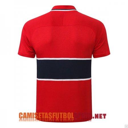Comprar Polo Kit Completo Paris Saint Germain Formacion 2020 2021 Rojo Azul Oscuro Replica